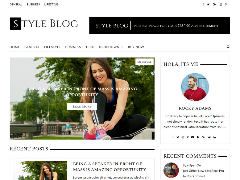 StyleBlog theme